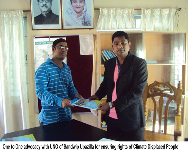 One to one advocacy with Noor-E-Khaja Alamin, UNO of Sandwip
