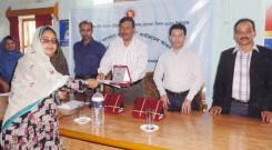 "Ms. Aleya Begum from YPSA has been honored as ""Joyeeta Woman""."