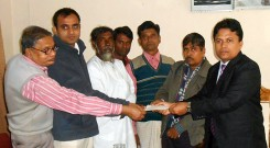Mr. Muhammad Ashraf hossain, Upazila Nirbahi Officer distributed the cheque to the leaders of Khaiyachara and Baroiadala National Park Co-Management Committee