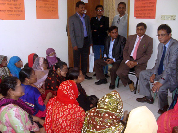 Visitors talking with the floating sex workers at DIC in Cox'sbazar