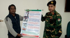 Brigadier General Kondokar Shohidul Islam, Director of Chittagong Medical Collage & Hospital received festoon from YPSA