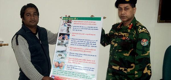 Brigadier General Kondokar Shohidul Islam, Director of Chittagong Medical Collage & Hospital received festoon from YPSA