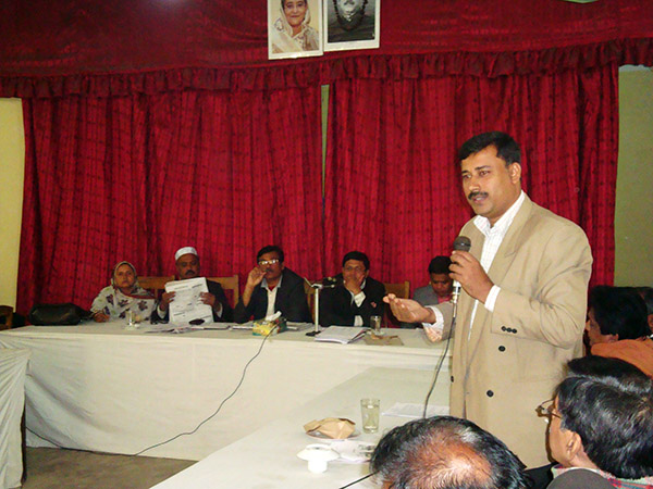 Md. Sirajuddin Belal in a stakeholder meeting