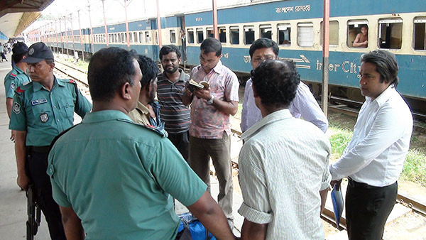 Magistrate fined a person at the rail station
