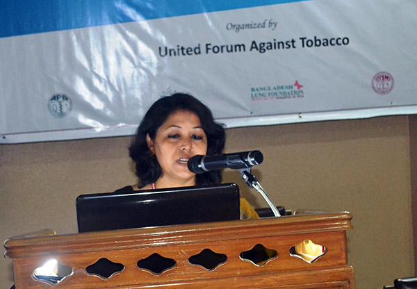 Nasim Banu, Team Leader, Smoke Free Project of YPSA