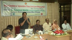"""Divisional consultation on """"Implementation of Tobacco control Law in Chittagong division"""""""