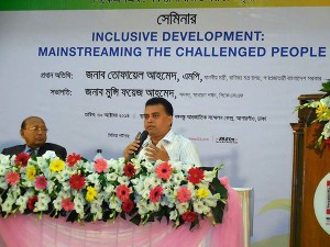 "YPSA's participation at the seminar on ""Inclusive development: mainstreaming the challenged people"" at Bangabandhu International Conference Centre"