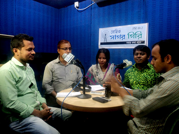 Radio talk show at Sagor Giri FM 99.2