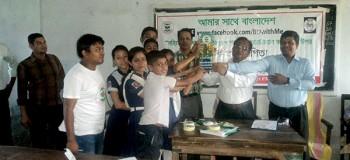 Prize distribution among the students