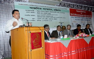 "The keynote paper on ""Challenges and prospects of MFIs in Chittagong division"" was presented by Md. Arifur Rahman, Chief Executive of YPSA"