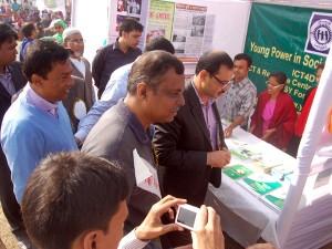 Mr. AZM Nasir Uddin, General Secretary of Chittagong District Sports Association and Vice president of BCB visiting YPSA stall