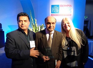 Mr.Vashkar Bhattacharjee , Head of YPSA IRCD (ICT and Resource Centre on Disabilities ) and Mr. Md. Arifur Rahman , Chief Executive of YPSA has attended at the London Book Fair and received this International Excellence Award