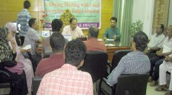 lobbying meeting at Barhmanbaria