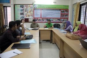 Meeting at YPSA head office