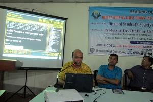 Vashkar presenting keynote papers on DAISY books
