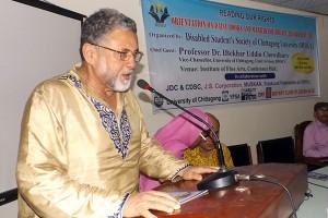 Panel speaker giving his speech