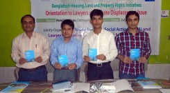 """""""Rights of Climate Displaced Persons: A Pocket Guide"""" jointly published by YPSA and Displacement Solution was launched in the program"""