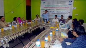 Orientation to Lawyers on Climate Displacement held at Chittagong