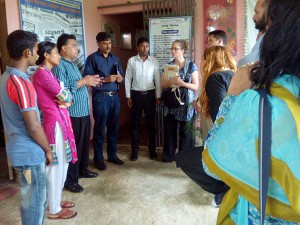 Visitors at the YPSA's shelter home