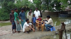 Water quality test at Bedabill, Ward no. 9, Mognama Union