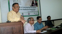 Chief guest addressing in the program