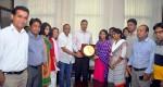 Group photo of YPSA visitor with mayor of Chittagong City Corporation AZM Nasir Uddin