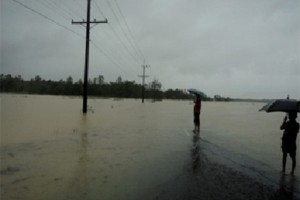 Flood affected area of South Mithachari union