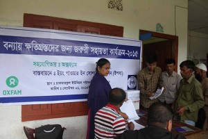 Relief support for people affected by flood and cyclone