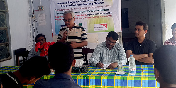 Inaugural of vocational training for working children in hazardous job