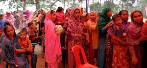 Beneficiaries (female parent and children) waiting for service