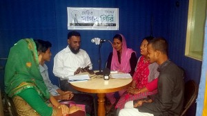 Radio talk show at Radio Sagor Giri