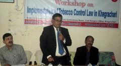 Workshop on Implementation of Tobacco Control Law in Khagrachari held