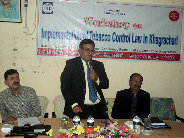 Workshop on Implementation of Tobacco Control Law in Khagrachari held