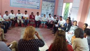 Bernicat in a sharing meeting meeting with the ANIRBAN members and Peer Leaders