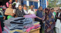 YPSA distributes winter clothes among poor at Sitakund