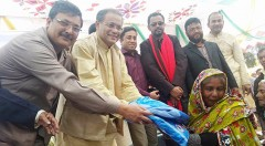 Dr. Hasan Mahmud MP in an insecticidal net distribution ceremony organized by YPSA