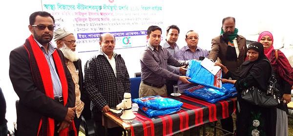 YPSA distributes Long Lasting Insecticidal Net (LLIN) in Rangunia