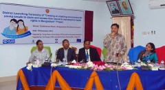 """launching ceremony of """"Creating an Enabling Environment for Young People to Claim and access to their Sexual and Reproductive Health Rights in Bangladesh"""""""
