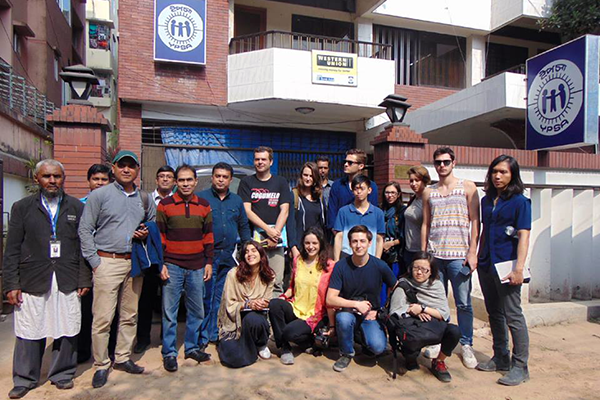 Group photo in front of YPSA Heade Office