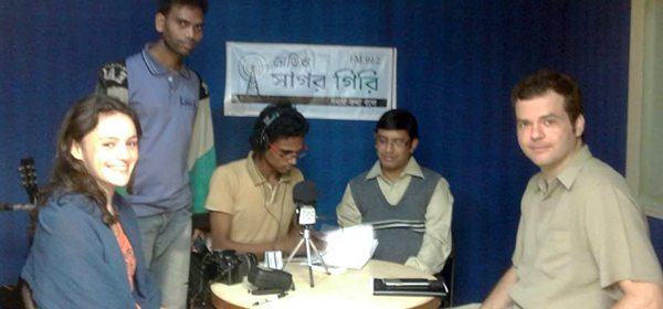 The team attend Radio talk show