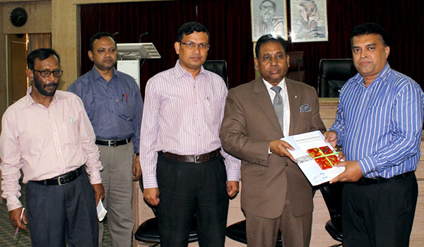 Md. Arifur Rahman handover 132 Digital Talking Books (CD) to honorable Vice-Chancellor of CU