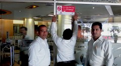 The Uni Resort authority displaying No Smoking Signage