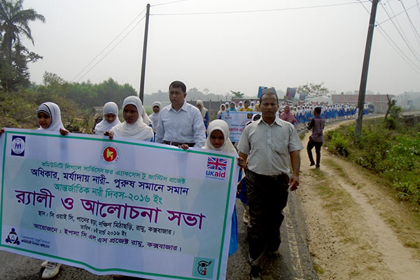 Rally at Ramu on International Women's Day 2016 by YPSA