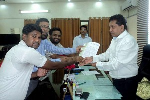 Memorandum handover to Comilla DC Office