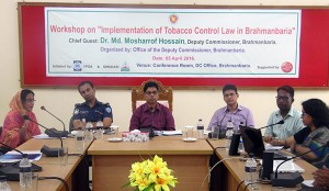 "Workshop on ""Implementation of Tobacco Control Law in Brahmanbaria"" held"