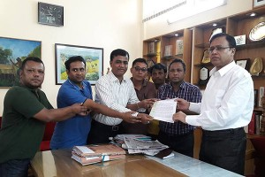 Memorandum handover to Rangamati DC office