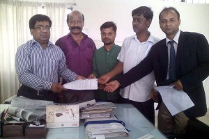 Memorandum handover to B-Baria DC Office