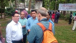 Professor Farid Uddin Ahmed, Md. Arifur Rahman and Tony Hoare