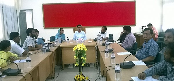Brahmanbaria Tobacco Control Taskforce Committee meeting