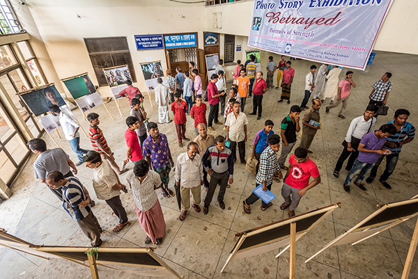 Photo exhibition at Chittagong Railway Station